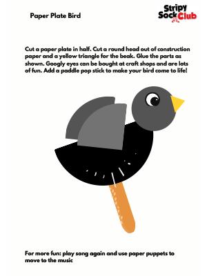 Paper Plate Bird Activity Sheet
