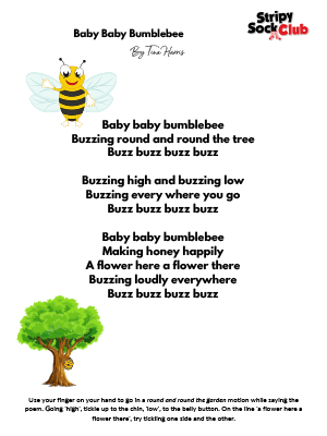 Baby Bumblebee Poem With Actions
