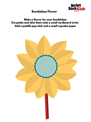 Bumblebee Flower Craft Project Instructions