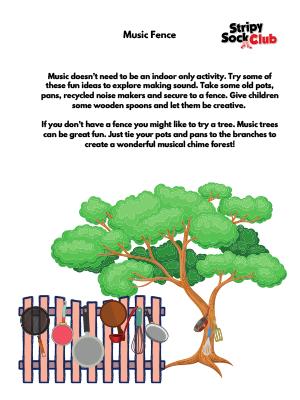 Music Fence Activity Sheet
