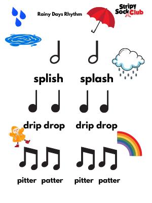 Rainy Days Rhythm Activity Sheet