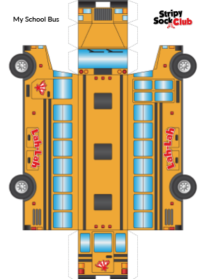 My School Bus Craft Project Template
