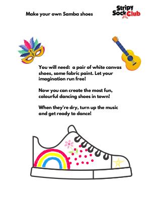 Samba Shoes Craft Project Instructions