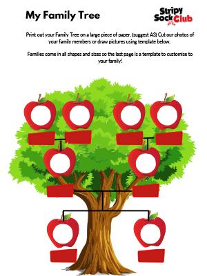 My Family Tree Activity Sheet