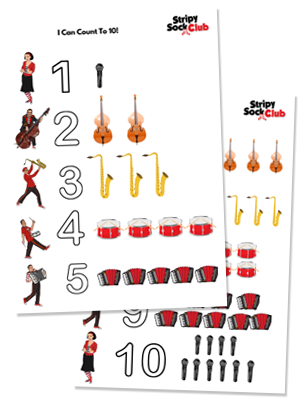I Can Count To 10! Activity Sheet