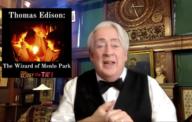 "<p><span class=""font-bold"">THOMAS EDISON: THE WIZARD OF MENLO PARK</span></p>"