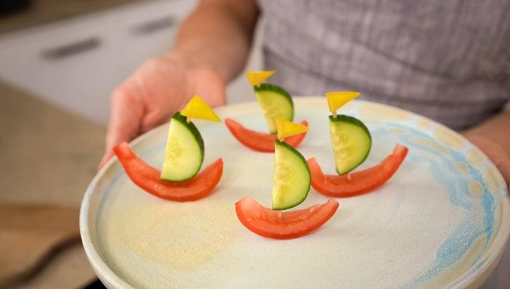 Grøntsagbåde til børn