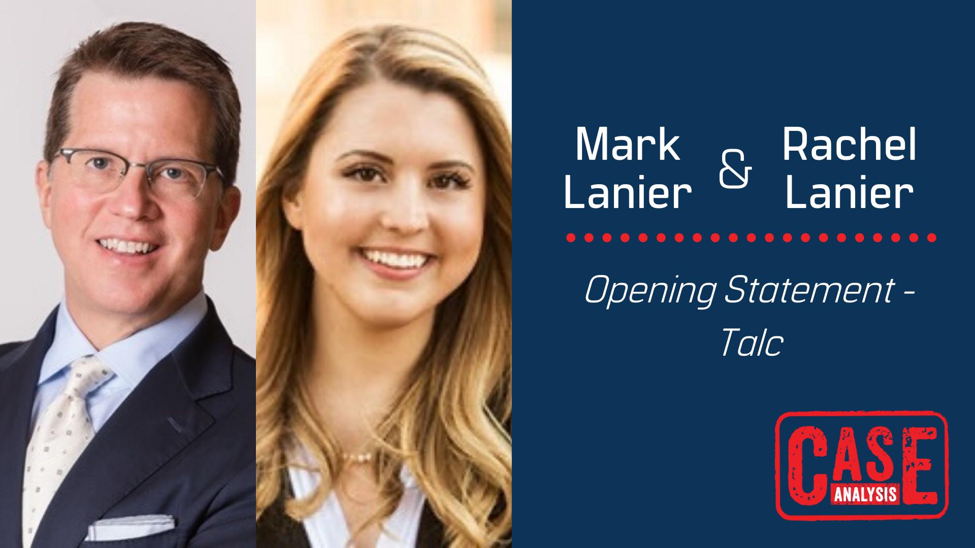 Mark Lanier & Rachel Lanier - Opening Statement Talc